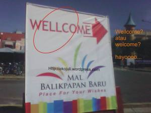 welcome atau wellcome?
